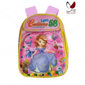 کوله پشتی مدرسه دخترانه مدل 91 رنگ صورتی